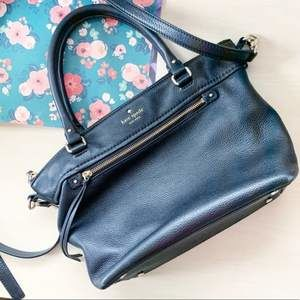 Kate Spade black leather crossbody shoulder bag